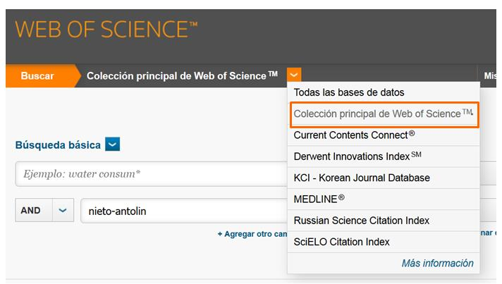 citas en web of science