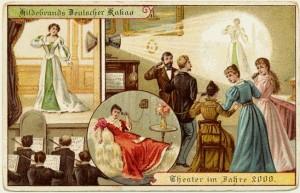 Televised Outside Broadcasting postcard 1900