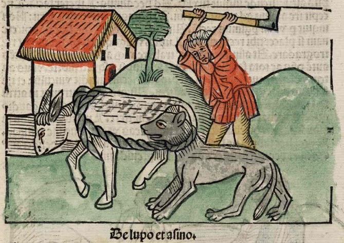 Lobo y asno