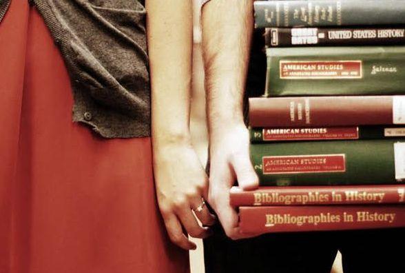 en la biblioteca