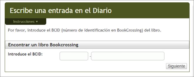 entrada en diario bookcrossing