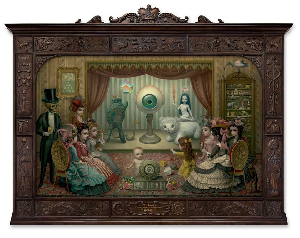 """The Parlor"" - Oil painting by Mark Ryden. http://www.markryden.com/"