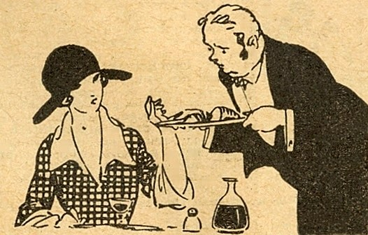 Woman and Waiter