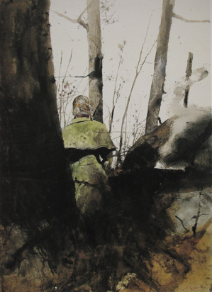 Andrew Wyeth watercolor-campfire-no