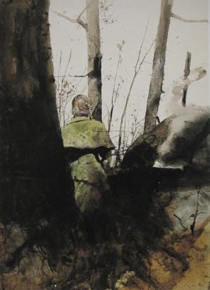 Andrew Wyeth watercolor-campfire-no