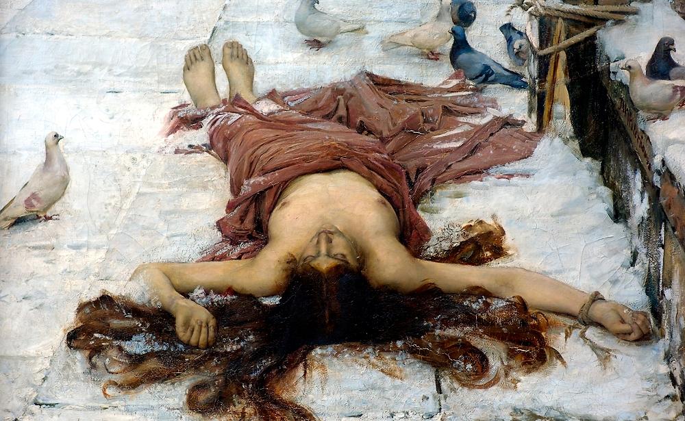 Saint_Eulalia_detail by Waterhouse