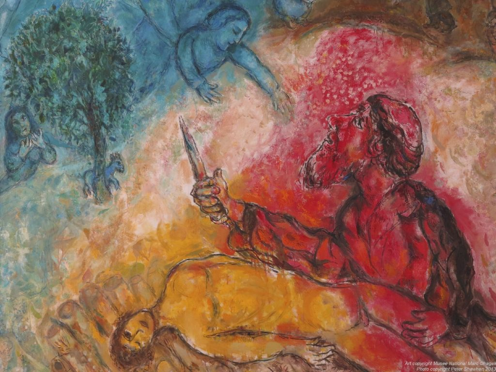 The sacrifice of Isaac Marc Chagall Original Title: Le sacrifice d'Isaac Date: 1966;