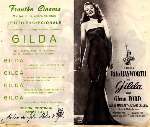 Programa de mano del Frontón Cinema de Logroño (1948)
