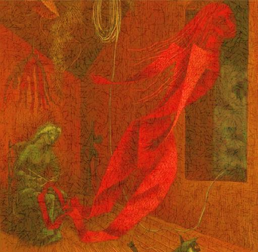 La tejedora roja, de Remedios Varo