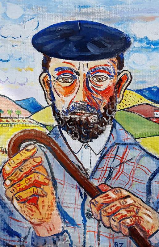 Retrato de Sabino Ordás, por Ricardo Zabaleta