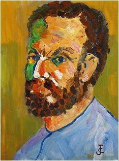 Retrato de Sabino Ordás, por Jusep Torres Campalans. Colección privada.