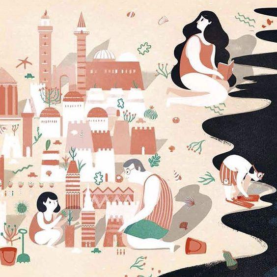 """(Iustración del libro """"El viaje"""", de Francesca Sanna)"""