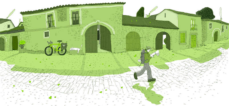"""David Pintor. Castrillo de los Polvazares (León) en el libro """"Camino de Santiago"""""""