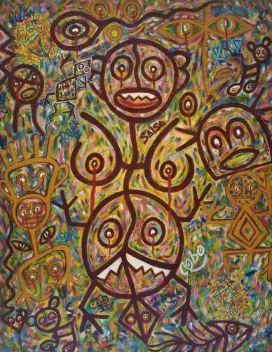 En esta obra de arte se puede sentir la ira del dolor y el sufrimiento del pueblo taino masacrado