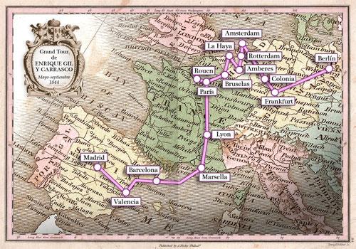 Itinerario de Enrique Gil por Europa